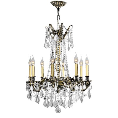 Windsor 8-Light Crystal Chandelier Crystal Color: Clear