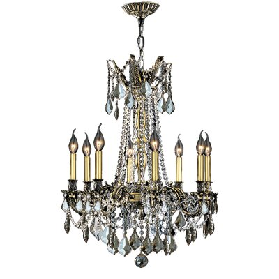 Radtke 8-Light Crystal Chandelier Crystal Color: Golden Teak