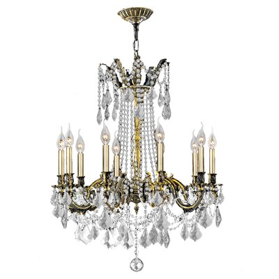 Radtke 10-Light Crystal Chandelier Crystal Color: Clear