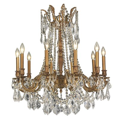 Radtke Traditional 10-Light Crystal Chandelier