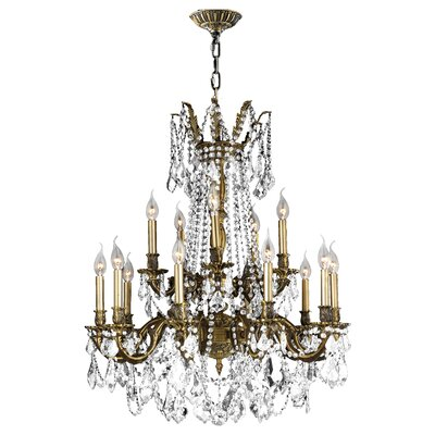 Radtke 15-Light Glass Crystal Chandelier