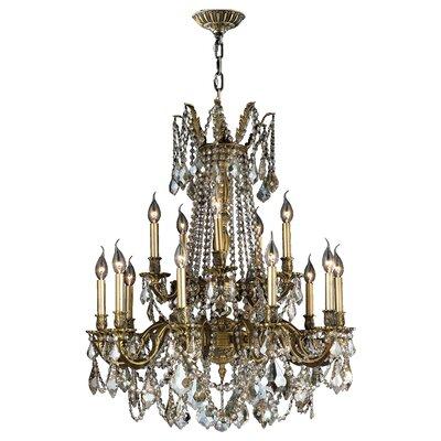 Radtke 15-Light Crystal Chandelier Color: Antique Bronze