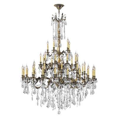 Windsor 45-Light Crystal Chandelier Crystal Color: Clear