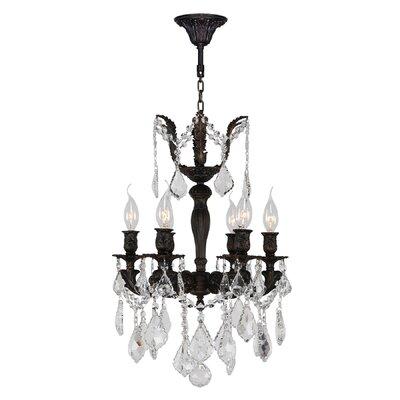 Versailles 6-Light Crystal Chandelier Size: 22 H x 15 W