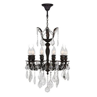 Versailles 10-Light Crystal Chandelier Size: 24 H x 17 W