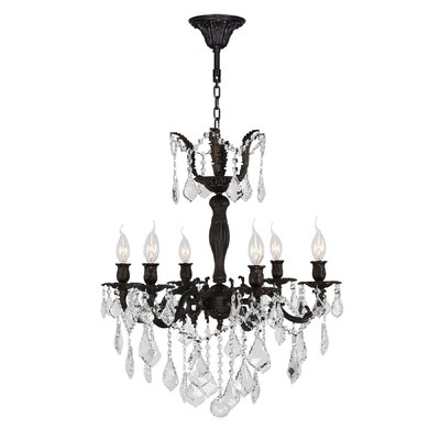 Versailles 6-Light Crystal Chandelier Size: 26 H x 23 W