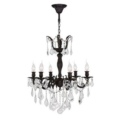 Dodson 6-Light Crystal Chandelier Size: 26 H x 23 W