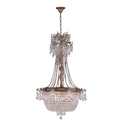 Winchester 10-Light Crystal Chandelier Finish: Antique Bronze