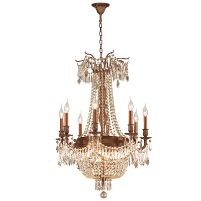 Winchester 12-Light Crystal Chandelier Finish: French Gold