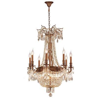 Reimer Cottage 12-Light Crystal Chandelier Color: French Gold