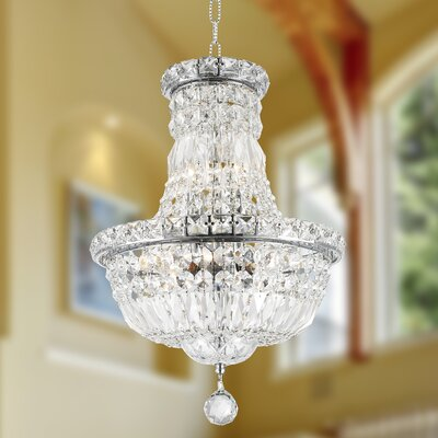 Carson 6-Light Empire Chandelier Finish: Chrome