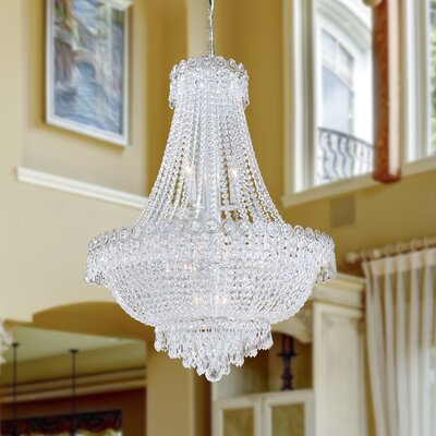 Carson 12-Light Empire Chandelier Finish: Chrome