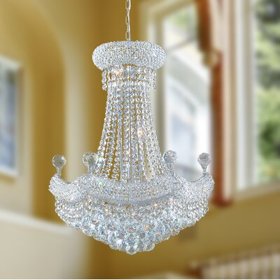 Carson 12-Light Crystal Empire Chandelier Finish: Chrome