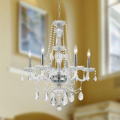 Pulaski Traditional 6-Light Crystal Chandelier Color: Chrome