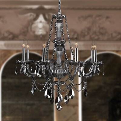 Doggett 8-Light Crystal Chandelier Crystal Color: Smoke