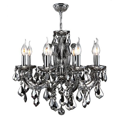 Roslyn 6-Light Crystal Chandelier Crystal Color: Chrome