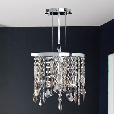 Leist 1-Light Mini Pendant Crystal Color: Multi-Color