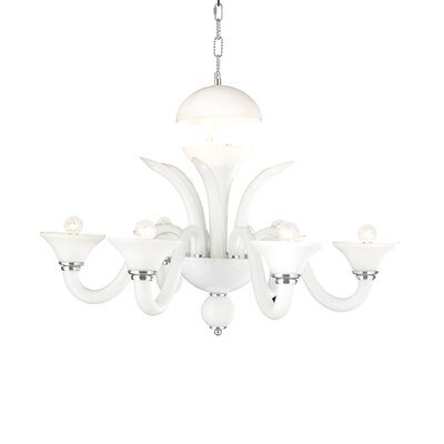 Melvina 6-Light Shaded Chandelier