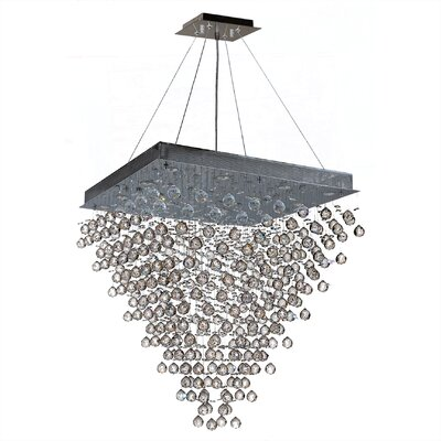 Leiker 16-Light Metal Crystal Chandelier Size: 36 H x 32 W x 32 D