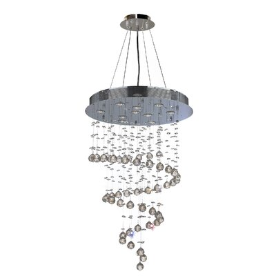 Leiser 10-Light Waterfall Chandelier Size: 36 H x 24 W