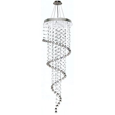 Leiser 10-Light Waterfall Chandelier Size: 72 H x 24 W