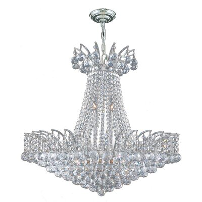 Carson 11-Light Empire Chandelier Finish: Chrome