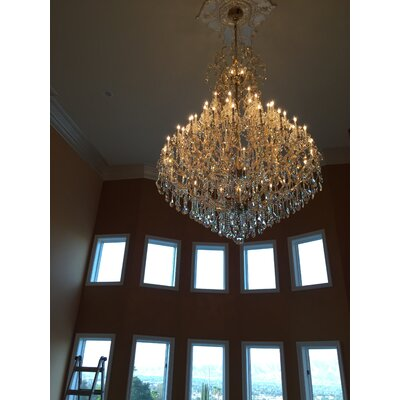 Kiazolu 49-Light Crystal Chandelier Color: Gold