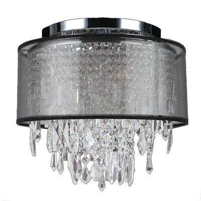 Meera 4-Light Flush Mount Shade Color: Black