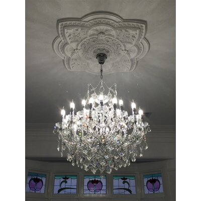 Kiazolu Glam 19-Light Crystal Chandelier Color: Chrome