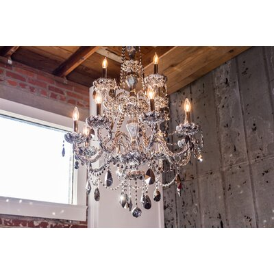 Doggett Traditional 12-Light Crystal Chandelier Crystal Color: Chrome