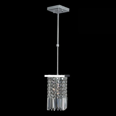 KeAndre 1-Light Mini-Pendant Crystal Color: Clear