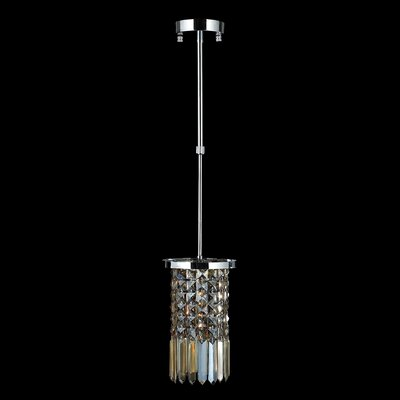 KeAndre Glam 1-Light Mini-Pendant Crystal Color: Golden Teak
