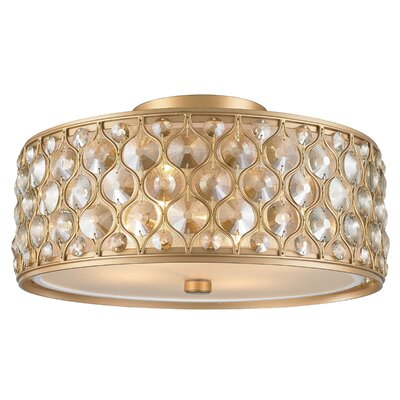 Adonis Crystal 4-Light Flush Mount Finish: Matte Gold