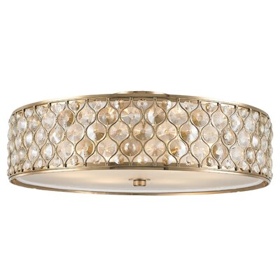 Adonis Crystal 6-Light Flush Mount Finish: Champagne