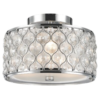 Adonis Crystal 3-Light Semi Flush Mount Finish: Polished Chrome
