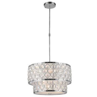 Adonis Crystal 9-Light Drum Pendant Finish: Polished Chrome