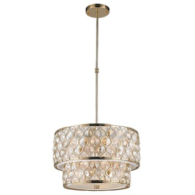 Adonis Crystal 9-Light Drum Pendant Finish: Champagne