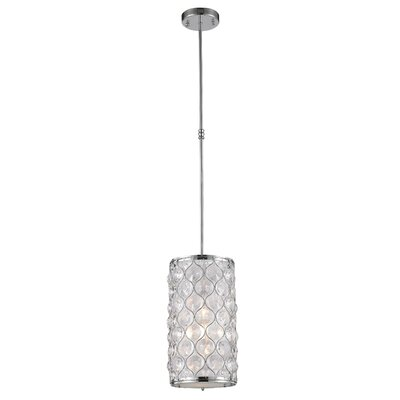 Adonis Crystal 1-Light Mini Pendant Finish: Polished Chrome