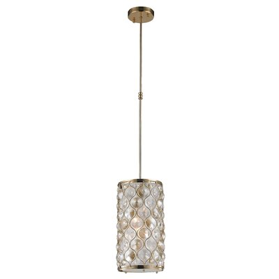 Adonis Crystal 1-Light Mini Pendant Finish: Champagne