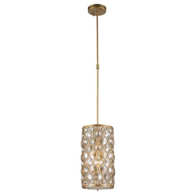 Adonis Crystal 1-Light Mini Pendant Finish: Matte Gold