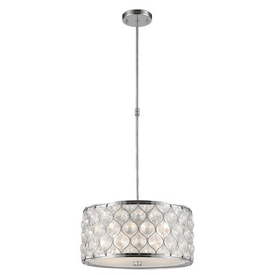 Adonis Crystal 4-Light Drum Pendant Finish: Polished Chrome