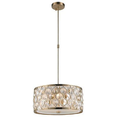 Adonis Crystal 4-Light Drum Pendant Finish: Champagne