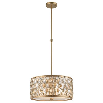 Adonis Crystal 4-Light Drum Pendant Finish: Matte Gold