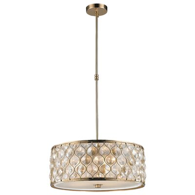 Adonis Crystal 5-Light Drum Pendant Finish: Champagne