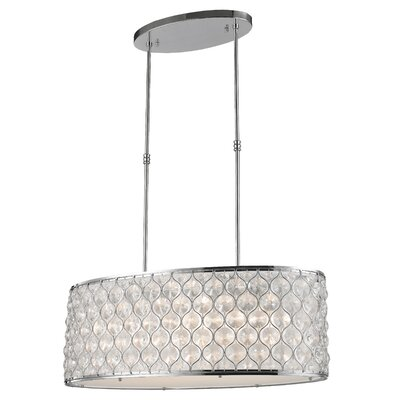 Adonis Crystal 12-Light Kitchen Island Pendant Finish: Polished Chrome