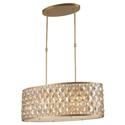 Adonis Crystal 12-Light Kitchen Island Pendant Finish: Matte Gold