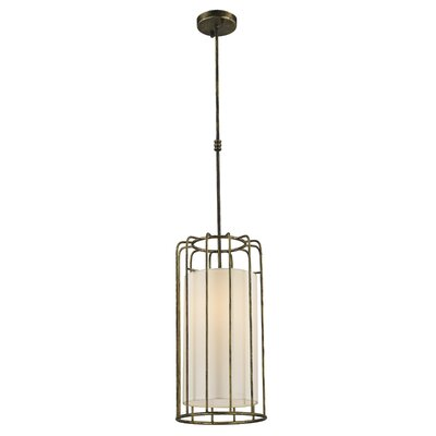 Outen Metal Cage 1-Light Foyer/Lantern Pendant Finish: Antique Bronze