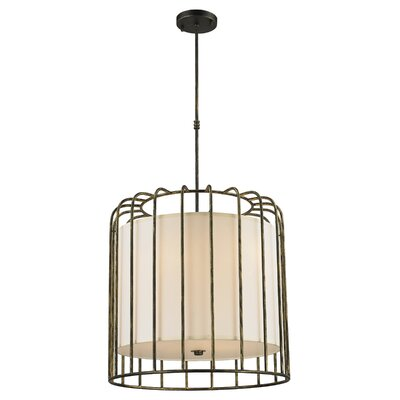 Outen Metal Cage 9-Light Foyer/Lantern Pendant Finish: Antique Bronze