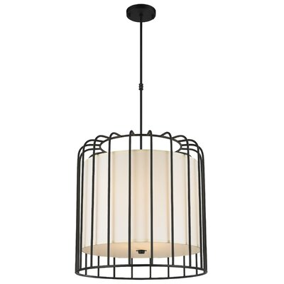 Outen Metal Cage 9-Light Foyer/Lantern Pendant Finish: Matte Black