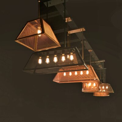 Carel Mesh 5-Light Kitchen Island Pendant Finish: Matte Gold